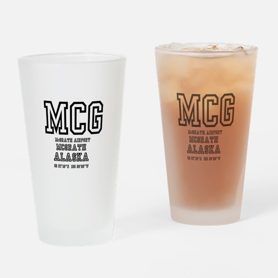 AIRPORT CODES - MCG - MCGRATH, ALAS Drinking Glass