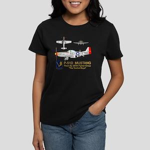 Mustang_Yeager_Front_Dk Women's Dark T-Shirt