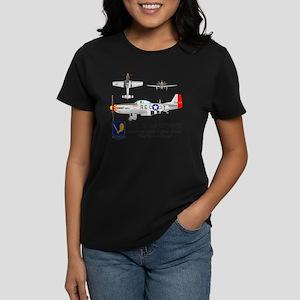 Mustang_Yeager_Front Women's Dark T-Shirt