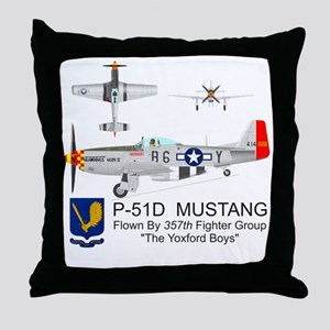 Mustang_Yeager_Front Throw Pillow