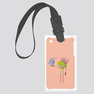 Critter Cedric iphone3G_case Large Luggage Tag