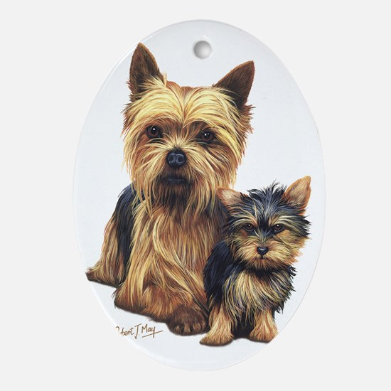 Yorkie Terrier  Pup Oval Ornament