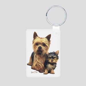 Yorkie Terrier  Pup Aluminum Photo Keychain
