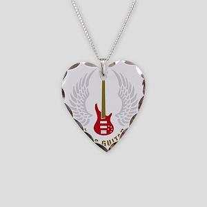 bass guitar Necklace Heart Charm