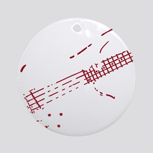 bass guitar Round Ornament