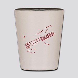 bass guitar Shot Glass