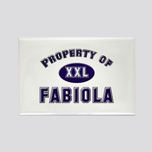 Property of fabiola Rectangle Magnet