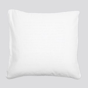 homesick sb invert copy Square Canvas Pillow