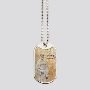 St Francis Vintage Design Dog Tags