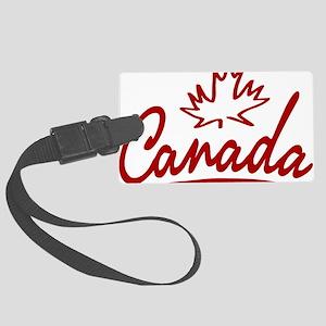 Canada Leaf Script W Large Luggage Tag