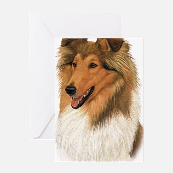 Rough Collie 2 copy Greeting Card