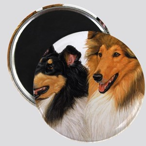 Double Rough Collie Magnet