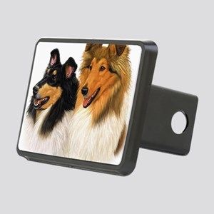 Double Rough Collie Rectangular Hitch Cover