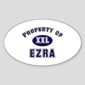 Property of ezra Oval Sticker