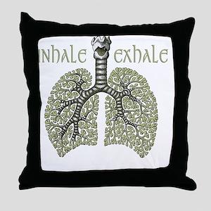 greenlungs2 Throw Pillow