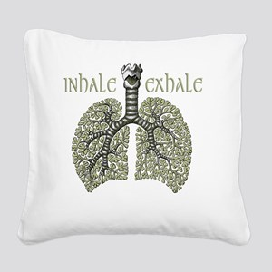 greenlungs2 Square Canvas Pillow