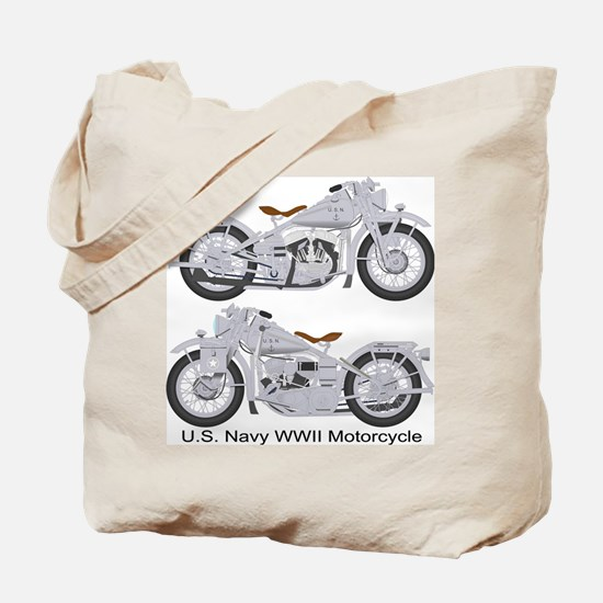 Motorcycle_Navy_Front Tote Bag