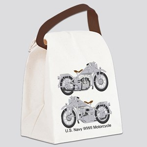 Motorcycle_Navy_Front Canvas Lunch Bag