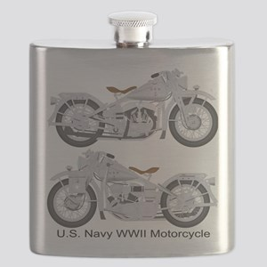 Motorcycle_Navy_Front Flask