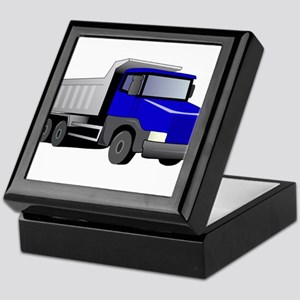 Blue Dump Truck Keepsake Box