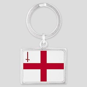 ST English Flag - City of Londo Landscape Keychain
