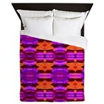 Tapestry of Purple and Orange Queen Duvet