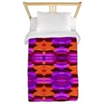 Tapestry of Purple and Orange Twin Duvet