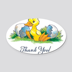 thankyoucard Oval Car Magnet