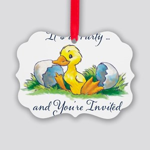 showerinvitation Picture Ornament