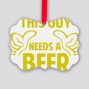 thisGuyBEER1C Picture Ornament