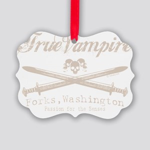 true vampire stone text for tees  Picture Ornament