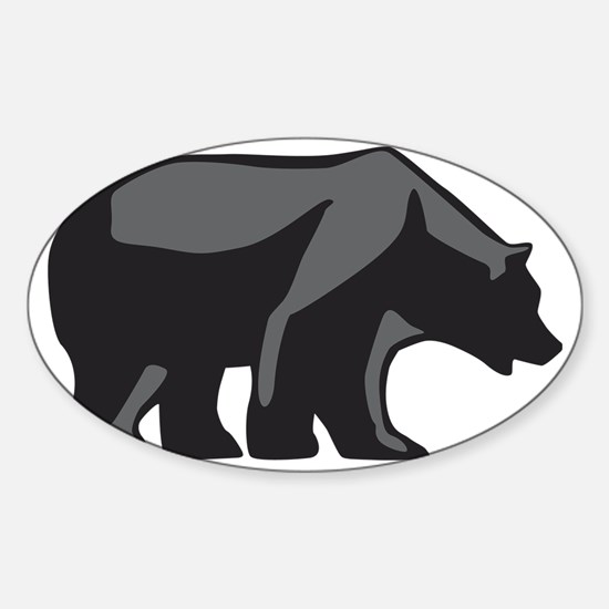 bear Sticker (Oval)