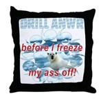 Drill ANWR Throw Pillow