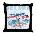 Drill ANWR Throw Pillow