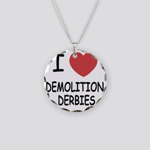 DEMOLITION_DERBIES Necklace Circle Charm