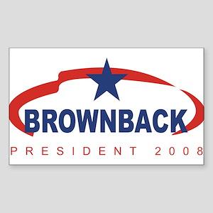 Sam Brownback for President ( Sticker (Rectangular