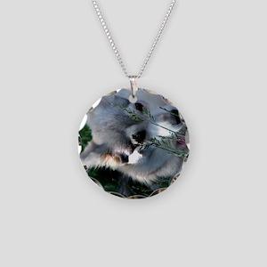 Alaskan Klee Kai hiding in g Necklace Circle Charm