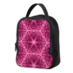 Pink Dahlias Neoprene Lunch Bag