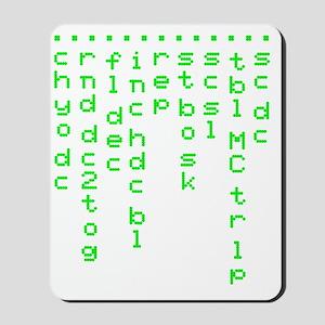 Crochet code light Mousepad