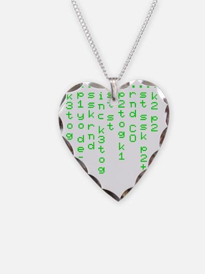 Knitting code 1 light Necklace