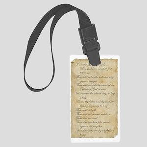parchment_10Script Large Luggage Tag