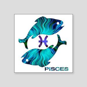 """PISCES Square Sticker 3"""" x 3"""""""