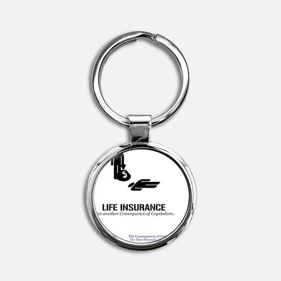 LifeInsMerch Round Keychain