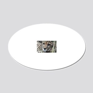 mom cheetah panel 20x12 Oval Wall Decal