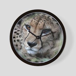 mom cheetah panel Wall Clock
