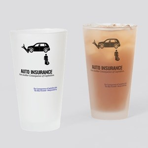 AutoInsMerch Drinking Glass