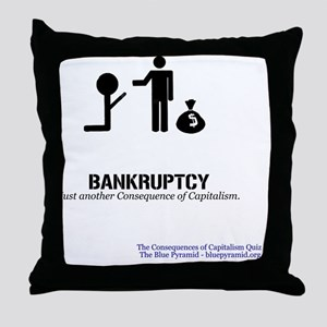 BankruptMerch Throw Pillow