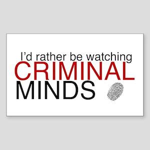 Watch Criminal Minds Sticker (Rectangle)