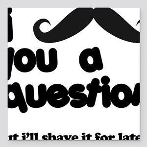 """moustacheq Square Car Magnet 3"""" x 3"""""""