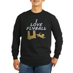 Love Flyball (2) Long Sleeve Dark T-Shirt